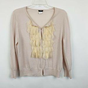 J Crew Cardigan Sweater Large Blush Pink Cream
